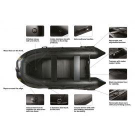 CARP SPIRIT BLACK BOAT 230