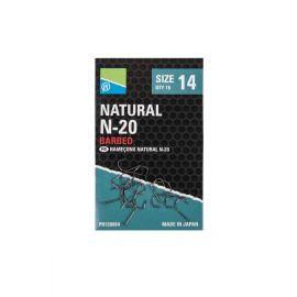 Preston Natural N-20 barbed Hooks