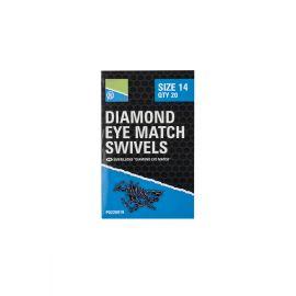 Preston Diamond Eye Match Swivel